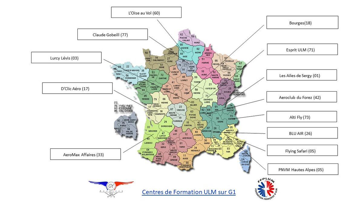 Carte des partenaires-écoles G1