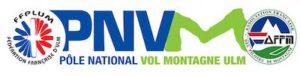 Logo du pôle national vol montagne ULM - PNVM